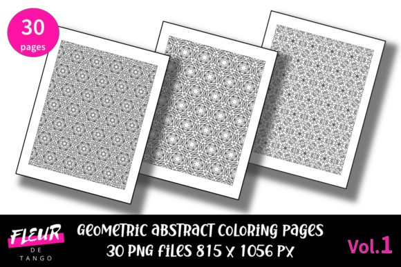 Print on Demand: Abstract Patterns Coloring Pages Vol.1 Graphic Coloring Pages & Books Adults By Fleur de Tango
