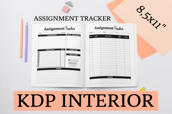 Print on Demand: Assignment Tracker | KDP Interior Graphic KDP Interiors By KDP Mastermind