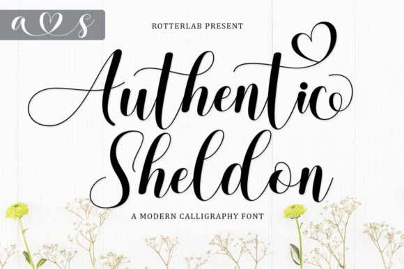 Print on Demand: Authentic Sheldon Script & Handwritten Font By rotterlabstudio