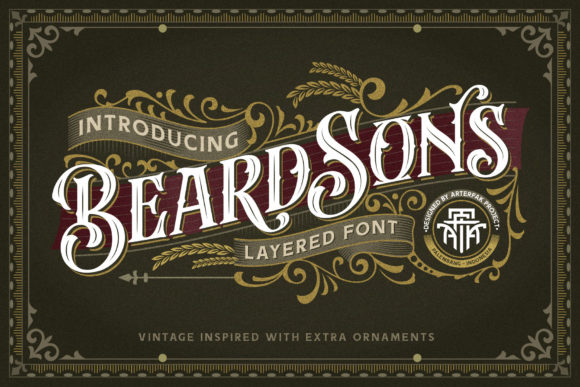 Print on Demand: Beardsons Blackletter Font By Arterfak Project