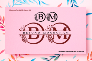 Print on Demand: Beyond Monogram Decorativa Fuente Por Haksen