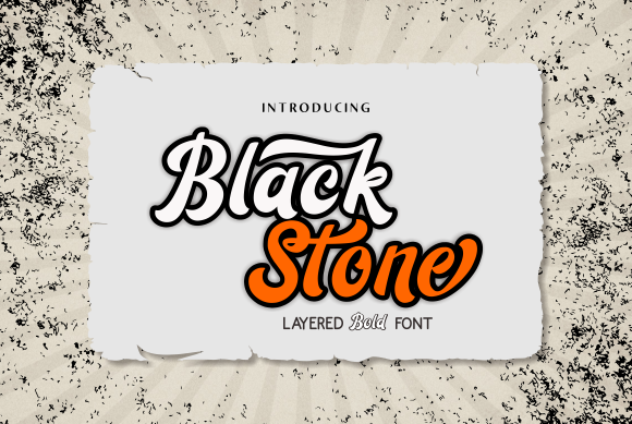 Print on Demand: Black Stone Script & Handwritten Font By Malindo Creative