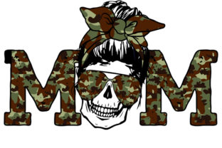 Print on Demand: Camouflage Skull Sublimation Download Graphic Crafts By DenizDesign