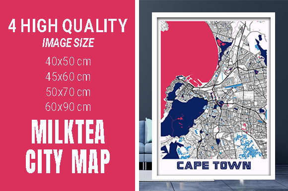Cape Town - South Africa MilkTea City Graphic Photos By pacitymap