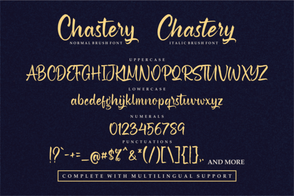 Chastery Font Design Item