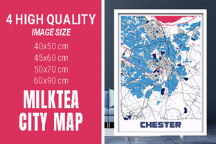 Chester - United Kingdom MilkTea City Graphic Photos By pacitymap