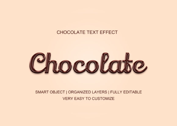 Chocolate Style Candy Text Effect Graphic Graphic Templates By GraphicHut