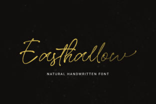 Print on Demand: Easthallow Script & Handwritten Font By Rillatype