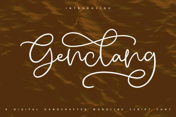 Print on Demand: Genclang Script & Handwritten Font By Vunira