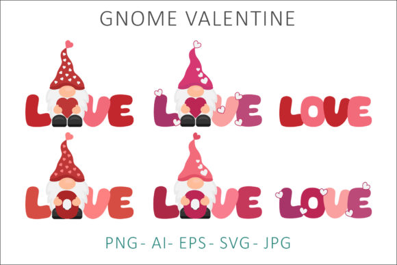 Print on Demand: Gnome Valentine Sublimation Clipart Graphic Illustrations By AS Digitale