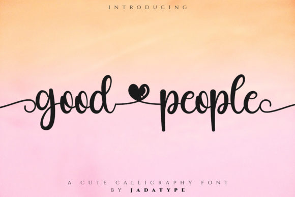 Print on Demand: Good People Script & Handwritten Font By jadatype