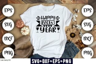 Print on Demand: Happy New Year Grafik Druck-Templates von Design_store