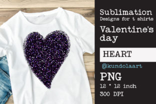 Print on Demand: Heart Glitter of Love. PNG File for Subl Graphic Print Templates By KundolaArt