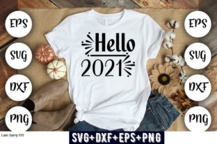 Print on Demand: Hello 2021 Grafik Druck-Templates von Design_store