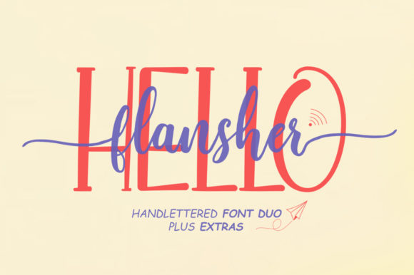 Print on Demand: Hello Flansher Script & Handwritten Font By softcreative50