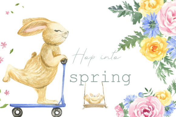 Print on Demand: Hop into Spring Graphic Illustrations By laffresco04
