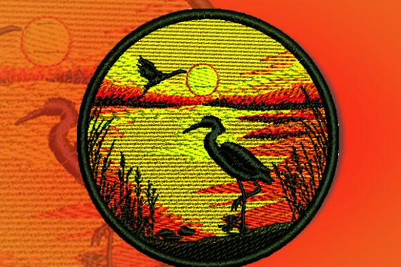 Ibis Patch Birds Embroidery Design By Samsul Huda