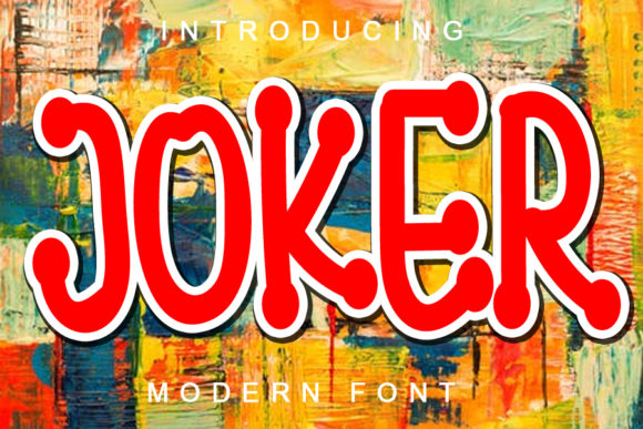 Print on Demand: Joker Display Font By ABBAsalam