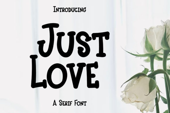 Print on Demand: Just Love Serif Font By Wanida Toffy