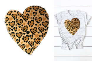 Print on Demand: Leopard Heart Love PNG, Valentines Day Graphic Print Templates By KundolaArt
