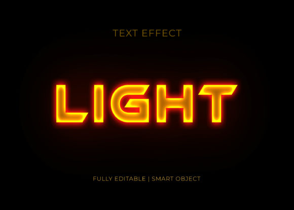 Light 3D Text Effect Graphic Graphic Templates By GraphicHut