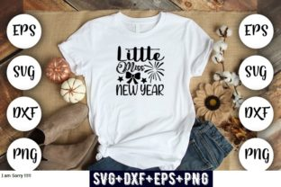 Print on Demand: Little Miss New Year Graphic Print Templates By Design_store