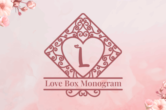 Print on Demand: Love Box Monogram Decorative Font By attypestudio
