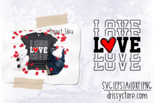 Love Graphic Crafts By DrissyStore