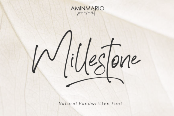 Print on Demand: Millestone Script & Handwritten Font By aminmario
