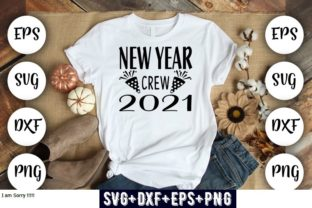 Print on Demand: New Year Crew 2021 Graphic Print Templates By Design_store