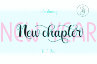 Print on Demand: New Year New Chapter Script & Handwritten Font By Fadlilah Studio