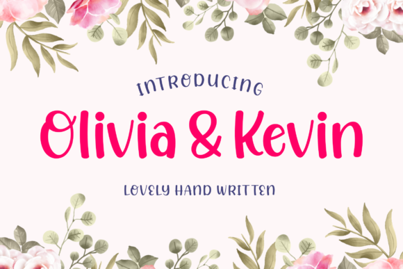 Print on Demand: Olivia & Kevin Script & Handwritten Font By Bekeen.co