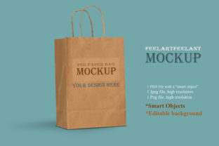 Paper Bag Mock Up, Gift Craft Paper Bag, Graphic Layer Styles By feelartfeelant