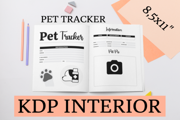 Print on Demand: Pet Tracker | KDP Interior Graphic KDP Interiors By KDP Mastermind