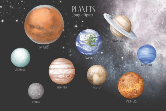 Print on Demand: Planets of Solar System Graphic Illustrations By Architekt_AT