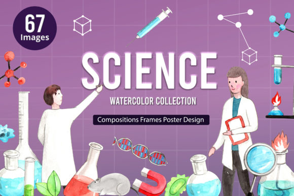 Science and Scientific Equipment Graphic Illustrations By WatercolorEps