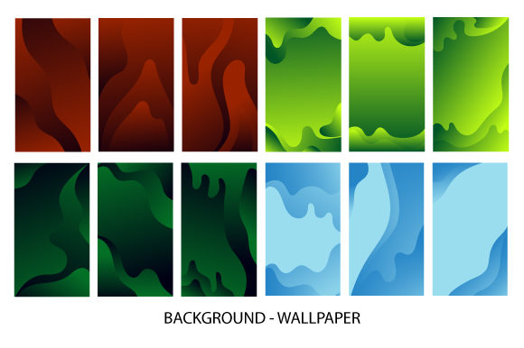 Set Wallpaper Screen Design Templates Graphic Backgrounds By Koes Design
