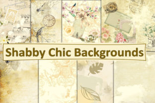 Print on Demand: Shabby Chic Cream Digital Paper Graphic Backgrounds By The Paper Princess