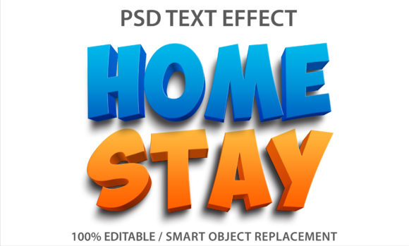 Text Effect Home Stay Premium Graphic Graphic Templates By yosiduck