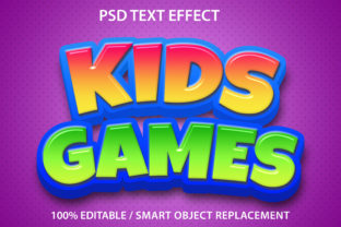 Print on Demand: Text Effect Kids Games Premium Graphic Graphic Templates By yosiduck