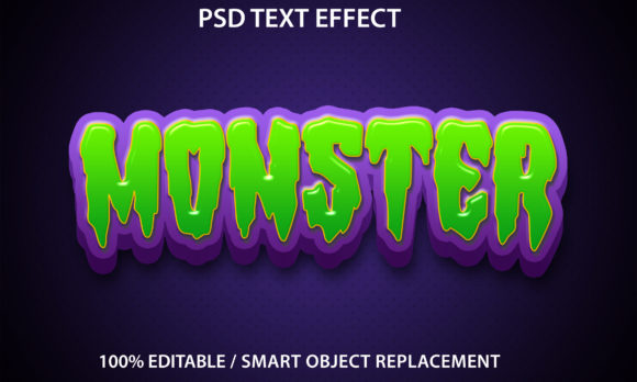 Text Effect Monster Premium Graphic Graphic Templates By yosiduck