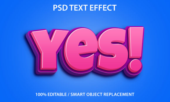 Text Effect Yes Premium Graphic Graphic Templates By yosiduck