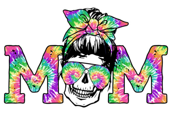 Tie Dye  Skull Sublimation Downloads Graphic Print Templates By DenizDesign