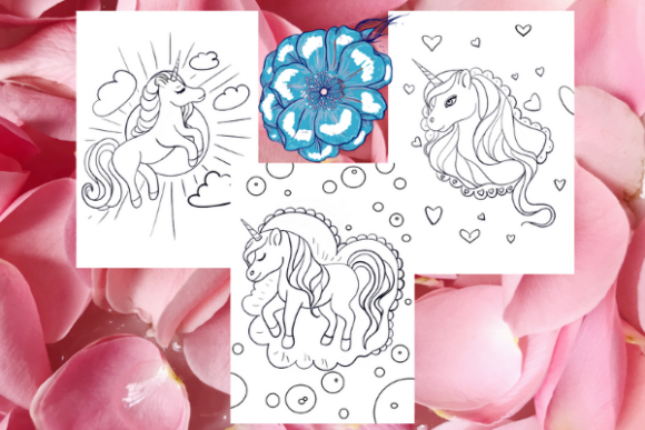 Print on Demand: Unicorn Coloring Pages for Kdp #1 Graphic Coloring Pages & Books Kids By Davina Gray
