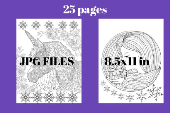 Print on Demand: Unicorn Coloring Pages for Kdp #2 Graphic Coloring Pages & Books By Davina Gray