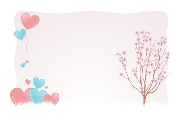 Print on Demand: Valentine Lovely Sweetheart Background Gráfico Ilustraciones Por edywiyonopp