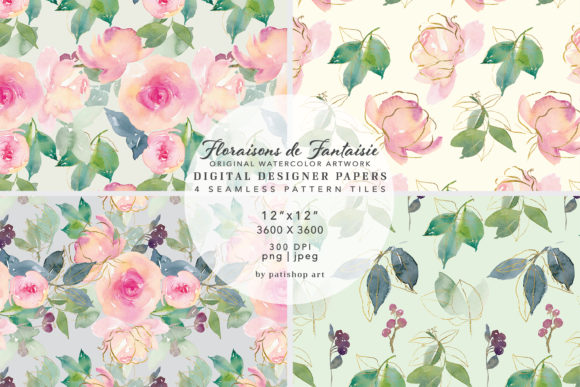 Watercolor Blush Gold Digital Paper Pack Graphic Patterns By Patishop Art
