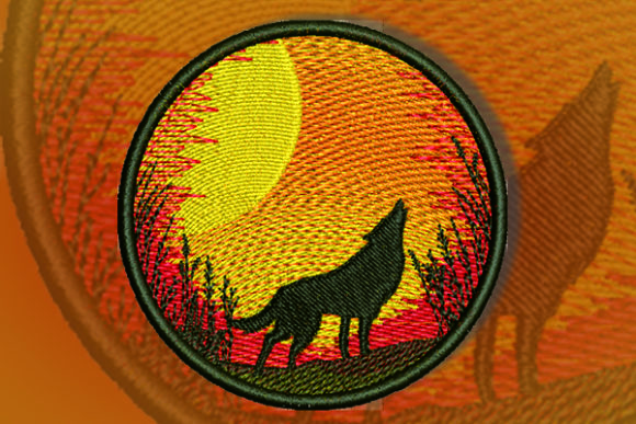 Wolf Patch Embroidery