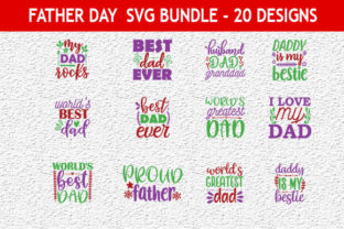 Print on Demand: Father Day 45Quotes Designs Bundle Graphic Print Templates By Mou_graphics