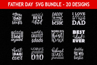 Print on Demand: Father Day 46 Quotes Designs Bundle Graphic Print Templates By Mou_graphics